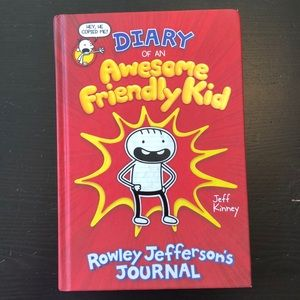 Diary of an Awesome Friendly Kid Hardcover Book